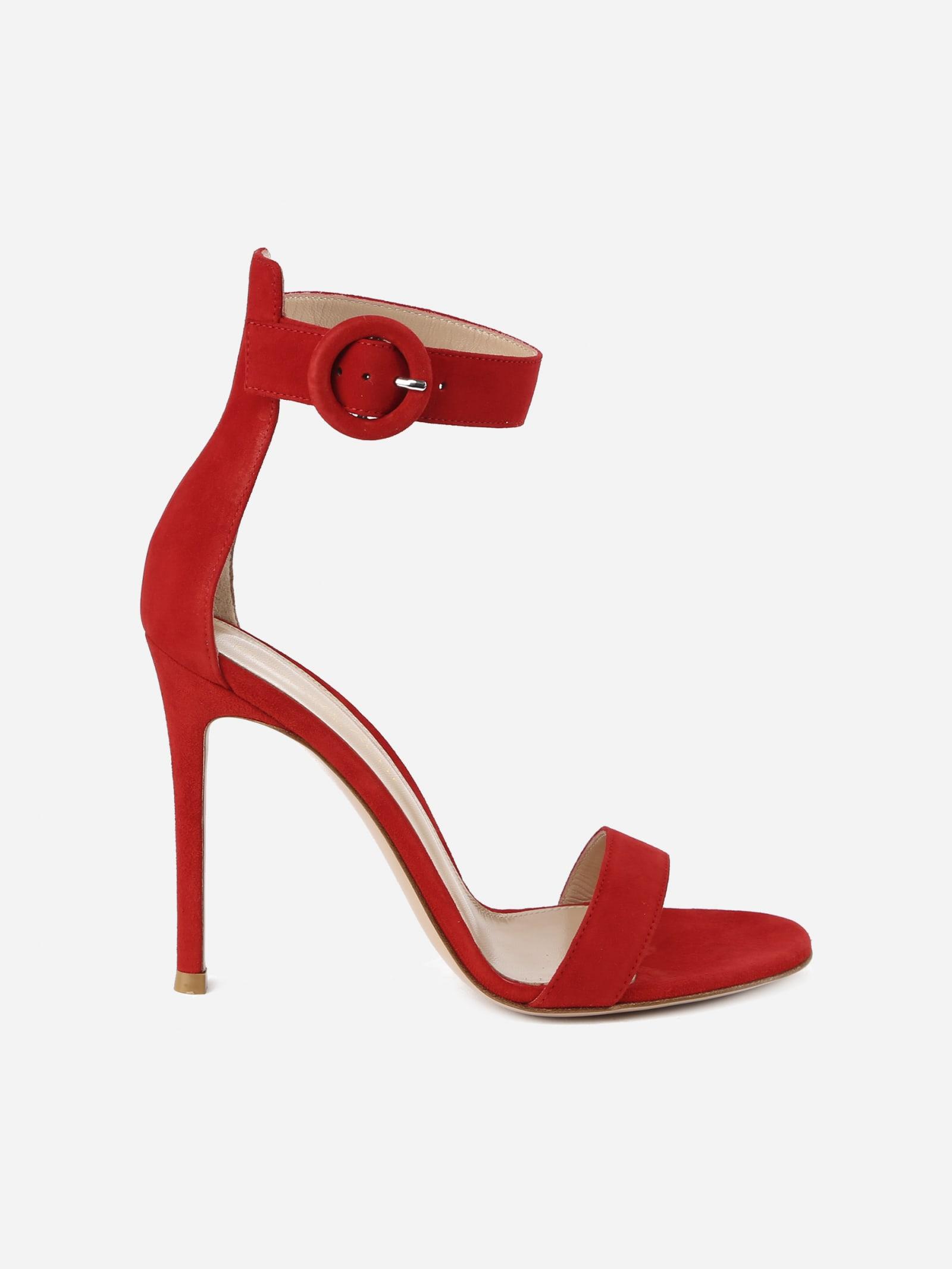Gianvito Rossi Portofino 105 Shoes In Suede