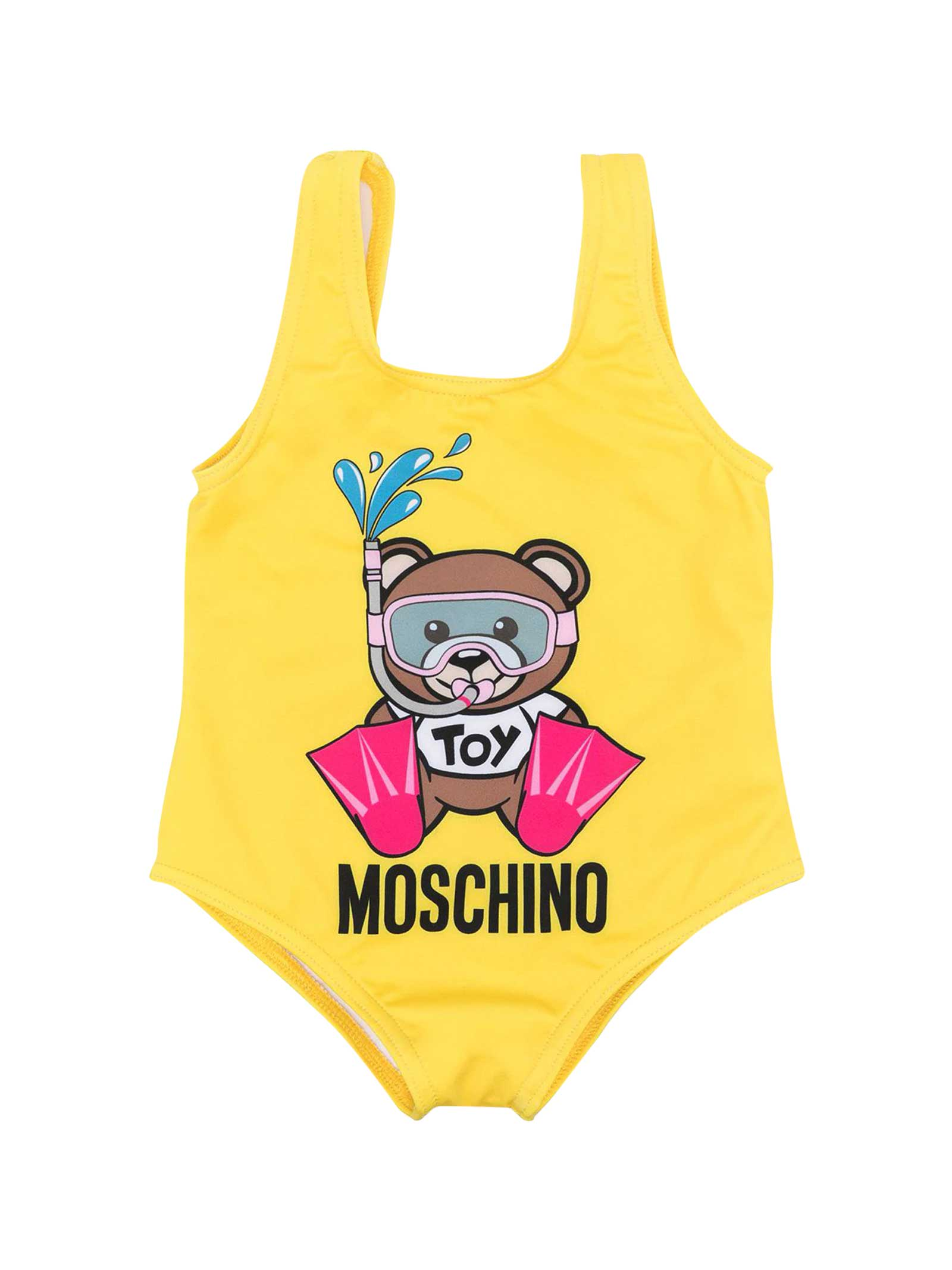 Moschino Yellow One-piece Swimsuit