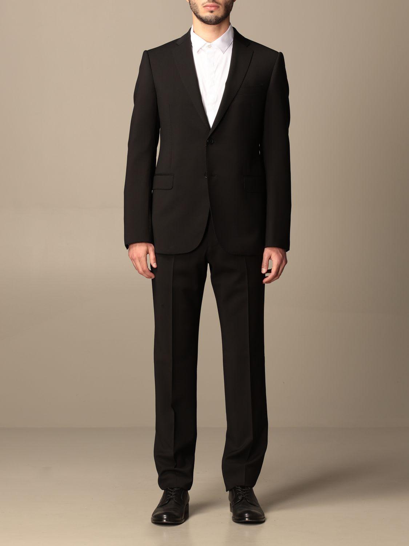 Emporio Armani Suit Emporio Armani Single-breasted Suit In Wool 238 Gr Drop 8