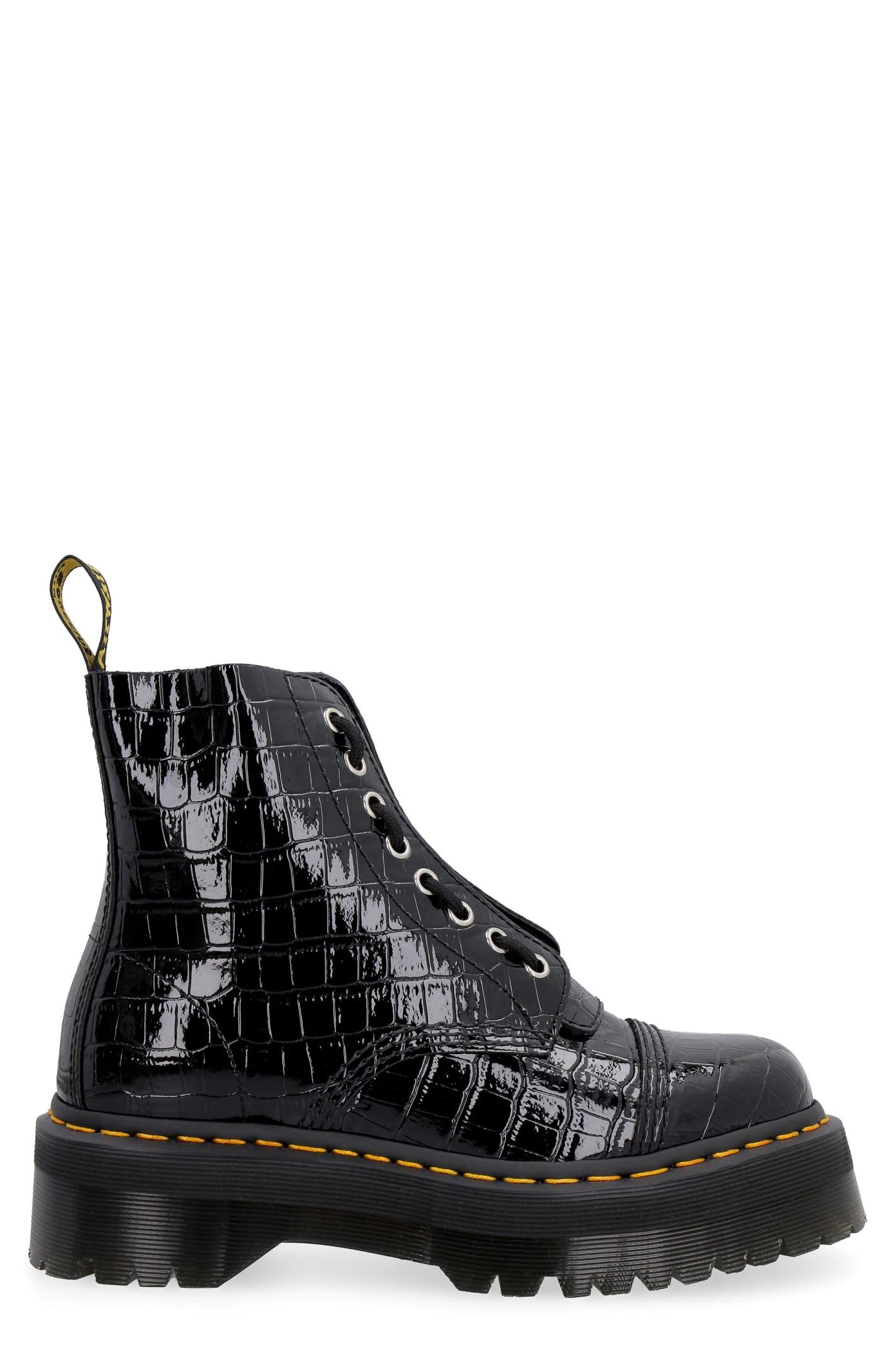Dr. Martens Sinclair Hi Max Pebbled Leather Boots