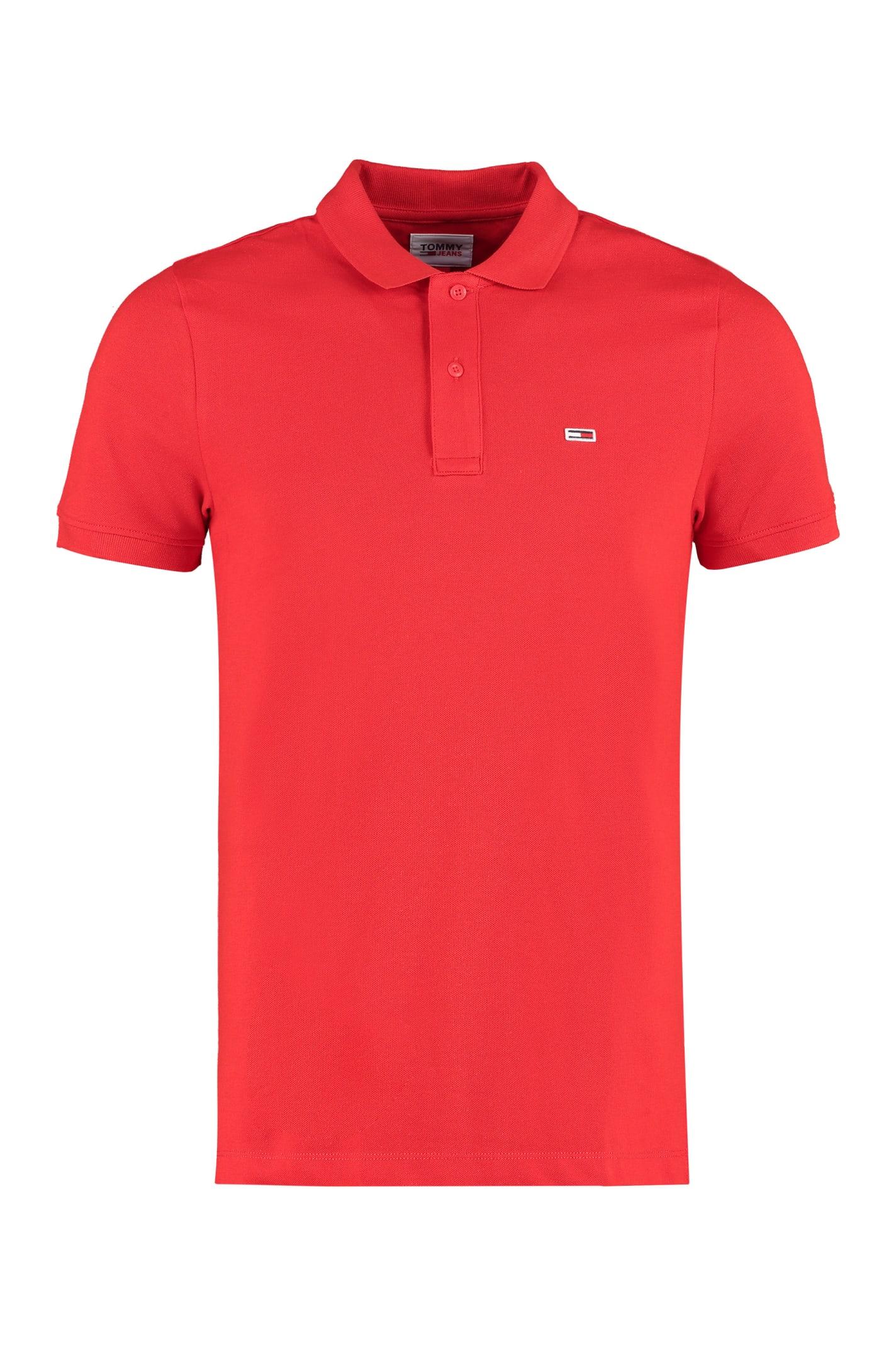 Tommy Jeans Cotton Piqué Polo Shirt