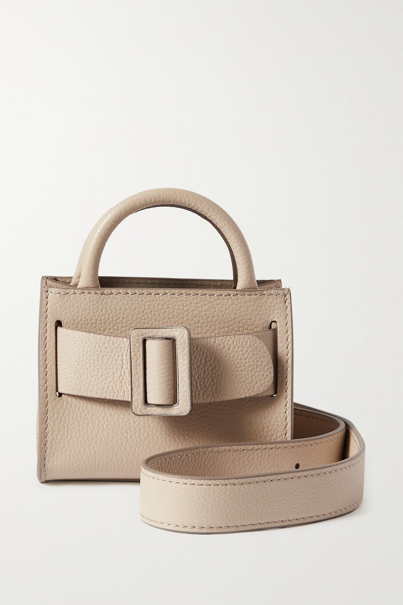 BOYY - Bobby Surreal Mini Buckled Textured-leather Tote - Neutrals - one size