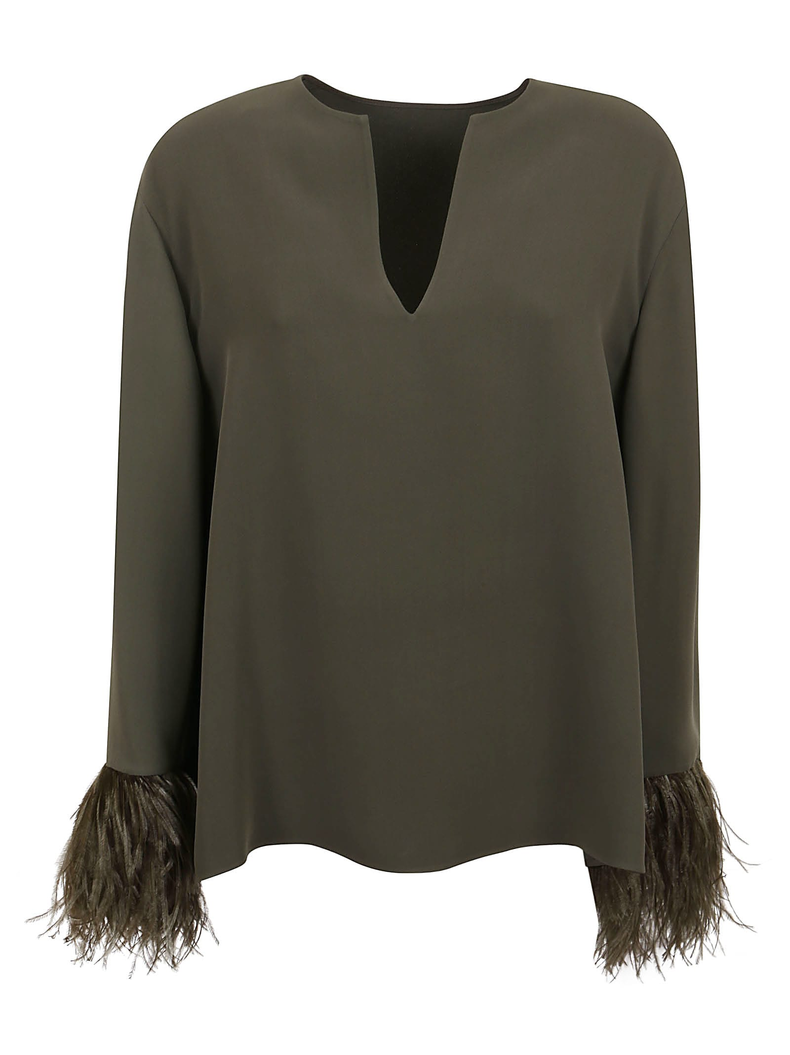 Valentino Top - With Feathers