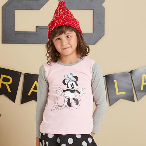 Disney 米妮系列歡樂塗鴨上衣(粉紅)