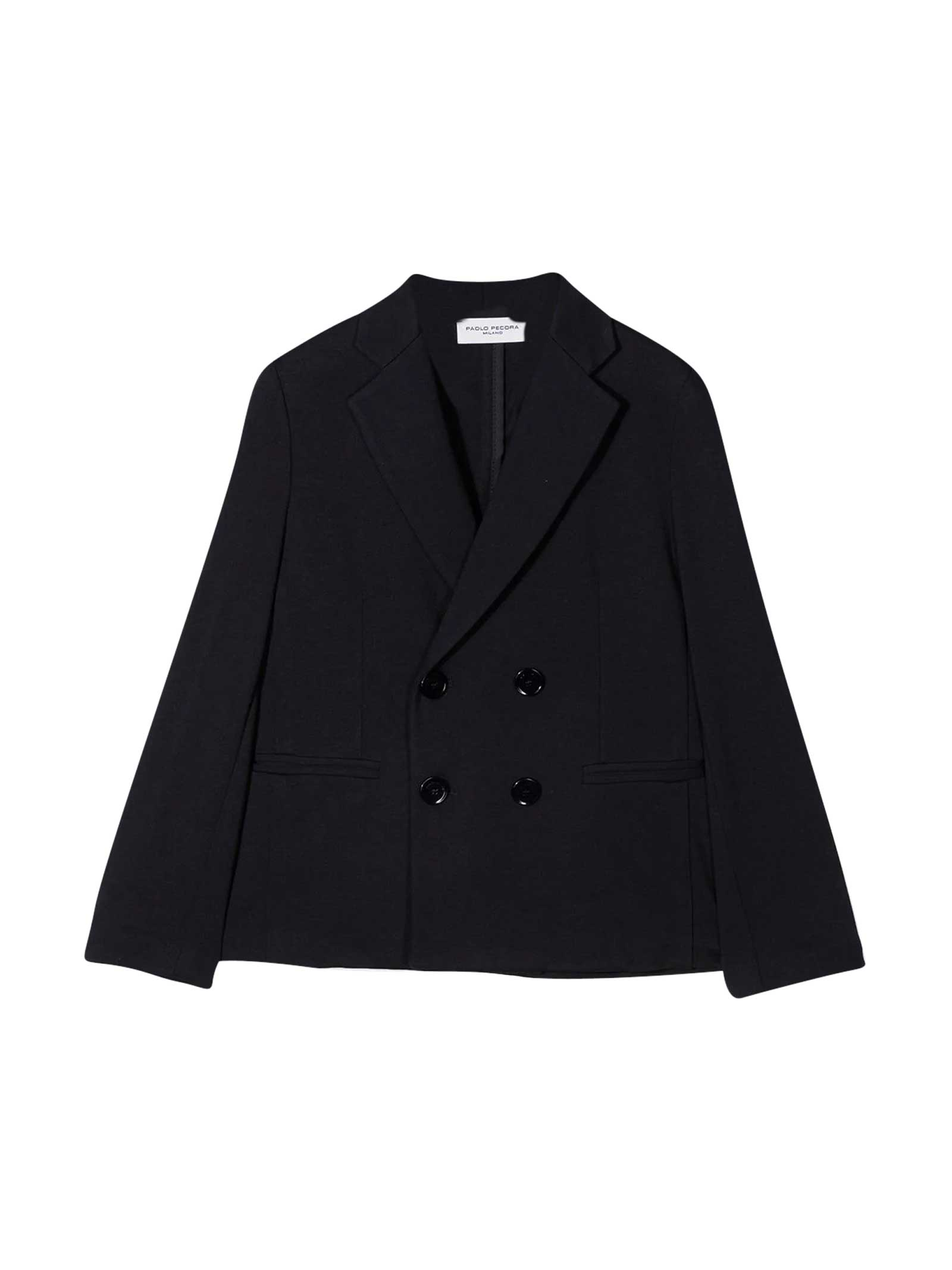 Paolo Pecora Double-breasted Tailored Teen Blazer