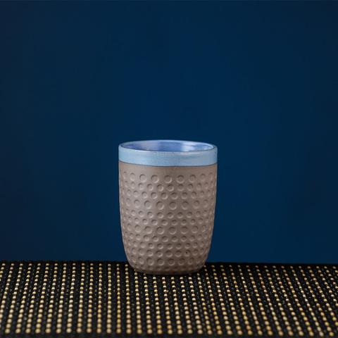 圓點藍影瓷泥茶杯250CC