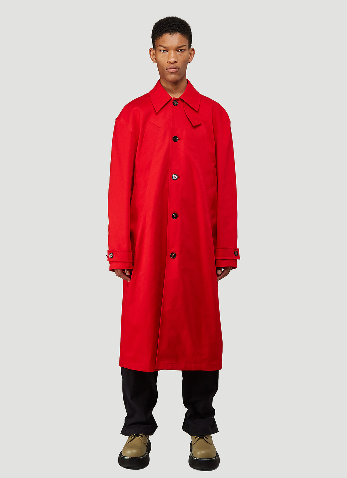male Red 100% Cotton. Dry clean.