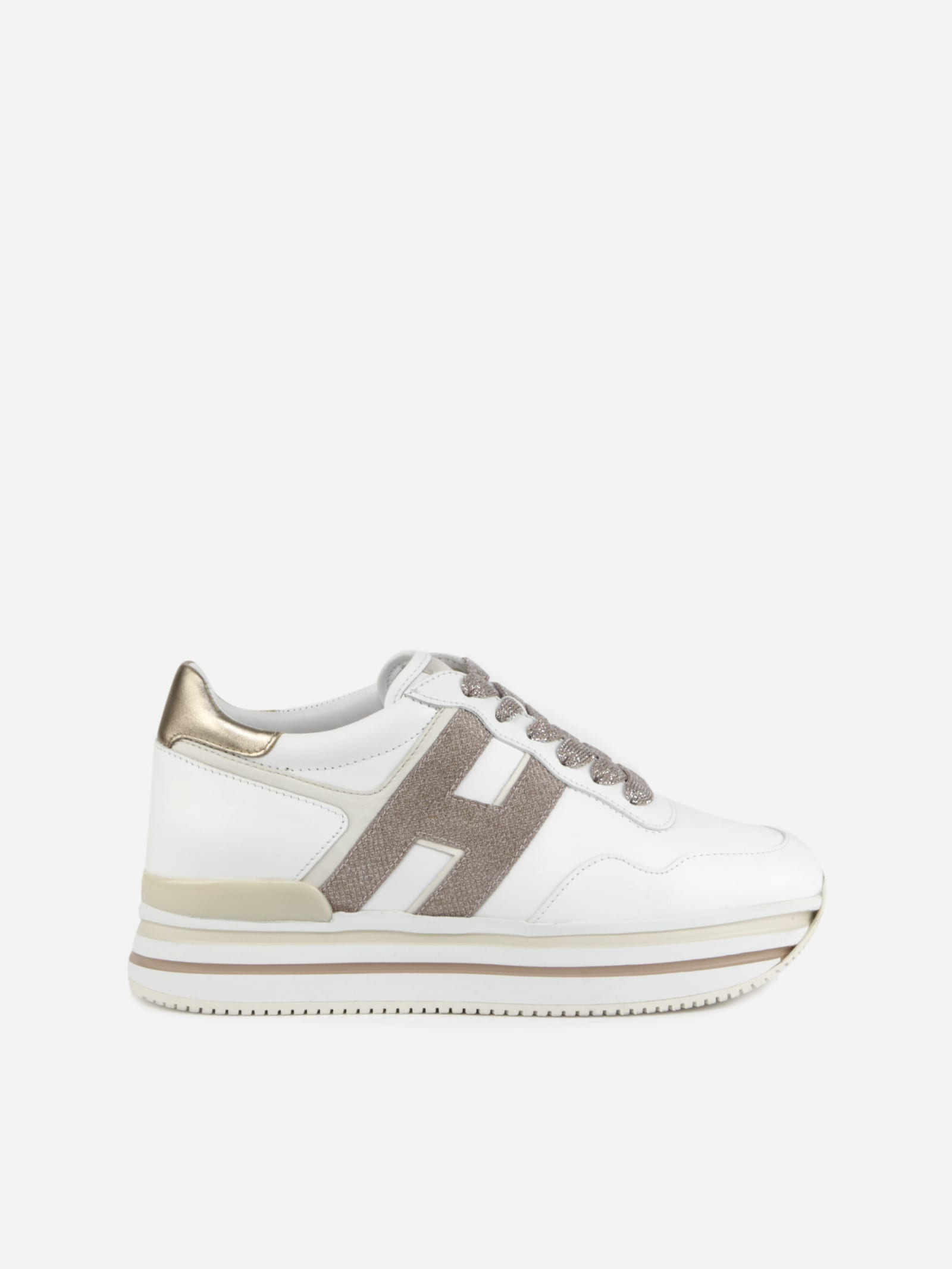 Hogan Midi H222 Sneakers In Leather