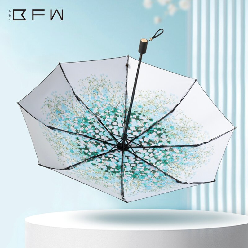 遮陽傘  太陽傘防曬防紫外線遮陽黑膠晴雨傘折疊雨傘女晴雨兩用五折傘