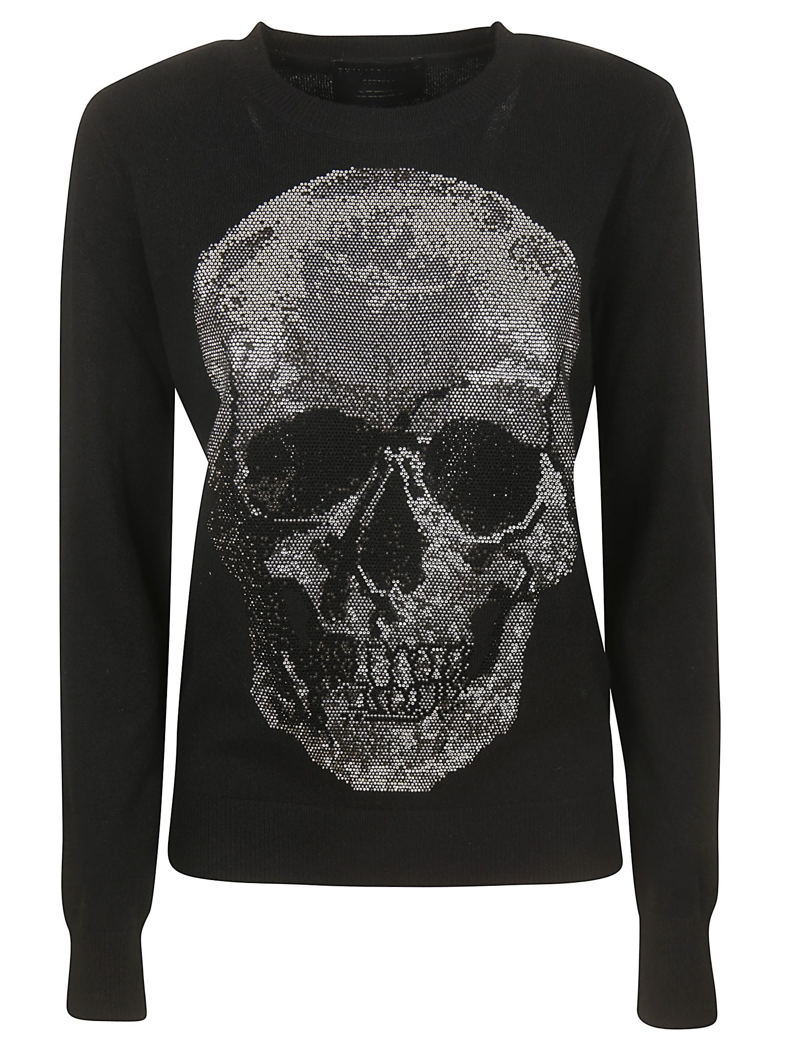 Philipp Plein Round Neck Ls Skull Sweater