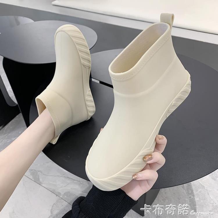 日系時尚雨鞋女夏防滑低幫水鞋水靴短筒雨靴洗車買菜廚房鞋膠鞋潮