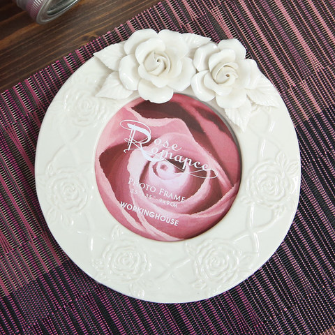 純白玫瑰手工 3.5相框