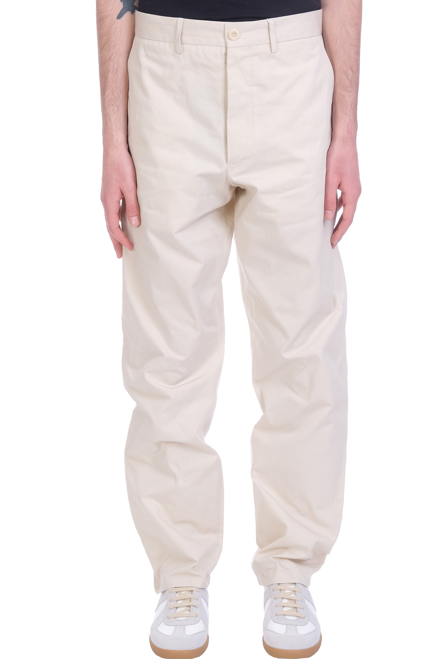 Maison Margiela Pants In Beige Cotton