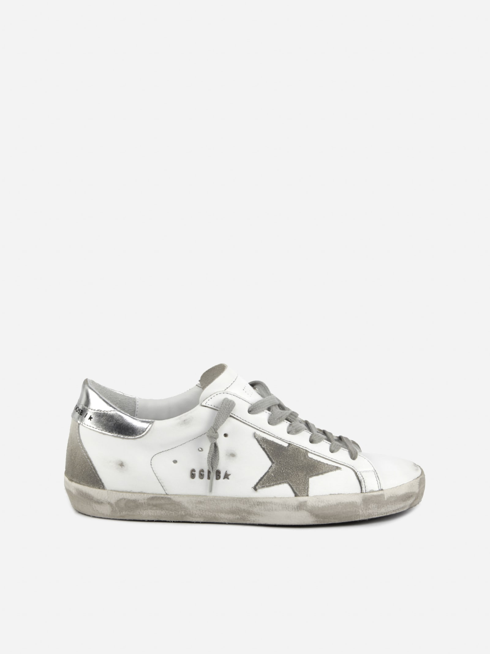Golden Goose Superstar Sneakers In Leather With Suede Details