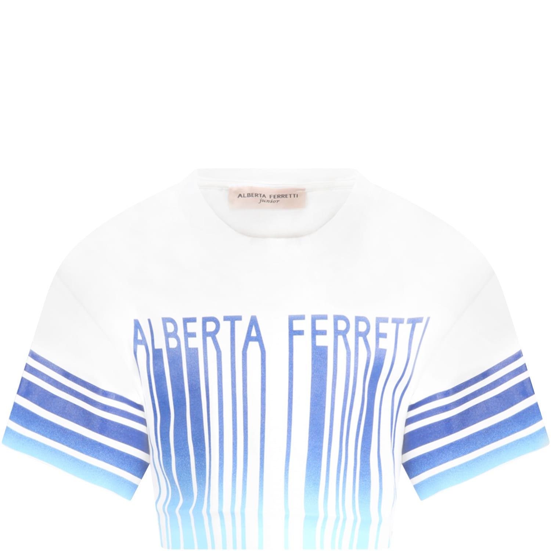 Alberta Ferretti White T-shirt For Girl With Logo