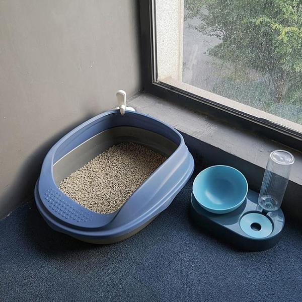 貓砂盆全半封閉式貓廁所除臭大號小號防外濺屎盆幼貓沙盆貓咪用品 快速出貨