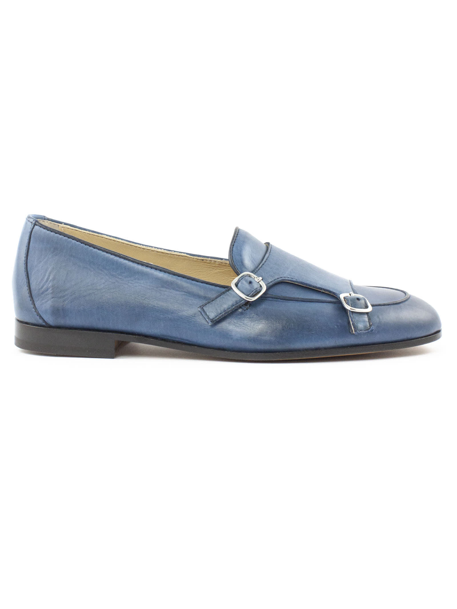 Doucals Light Blue Leather Loafer