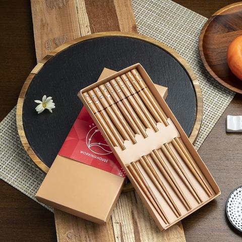 年年有魚貝殼木筷5入組