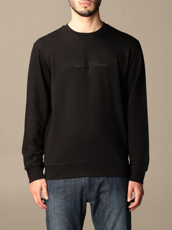 Emporio Armani Sweatshirt Emporio Armani Crewneck Sweatshirt With Signature