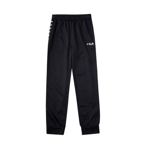 FILA KIDS 吸排束口褲-黑色 1PNV-4422-BK