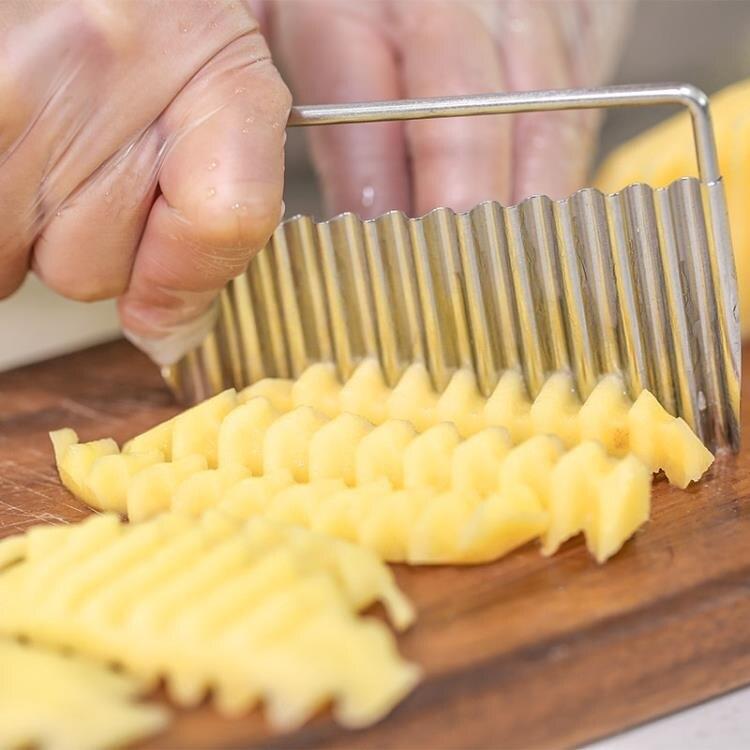 豆腐刀 日本TIGERCROWN波浪型波紋型豆腐切刀薯片切刀波浪切片器