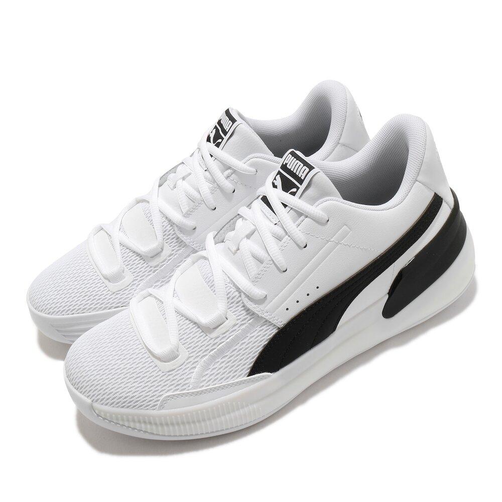 PUMA 籃球鞋 Clyde Hardwood Team 男鞋 低筒 避震 包覆 運動 球鞋 穿搭 白 黑 [19445401]
