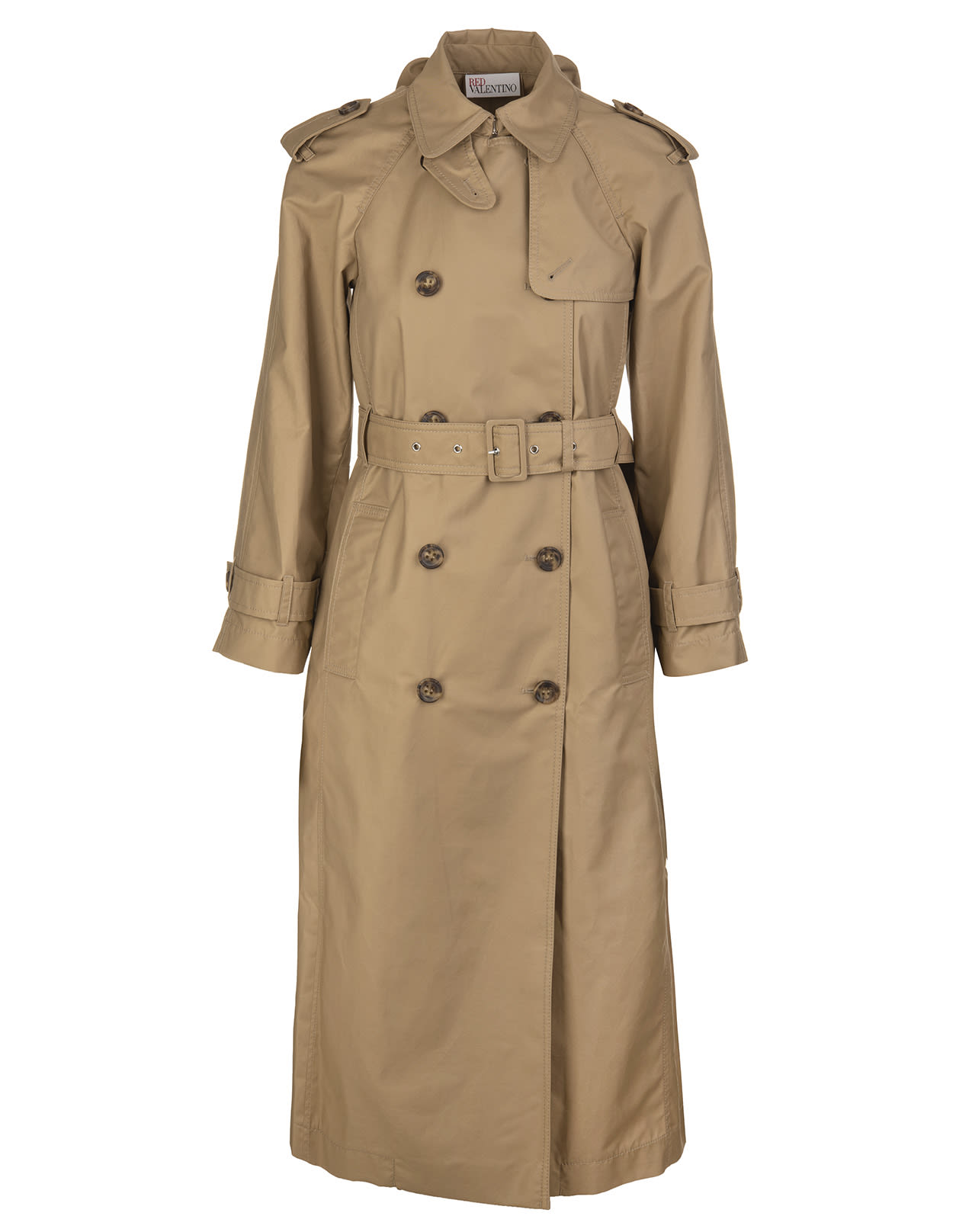 Trench Coat Detailed With Bows