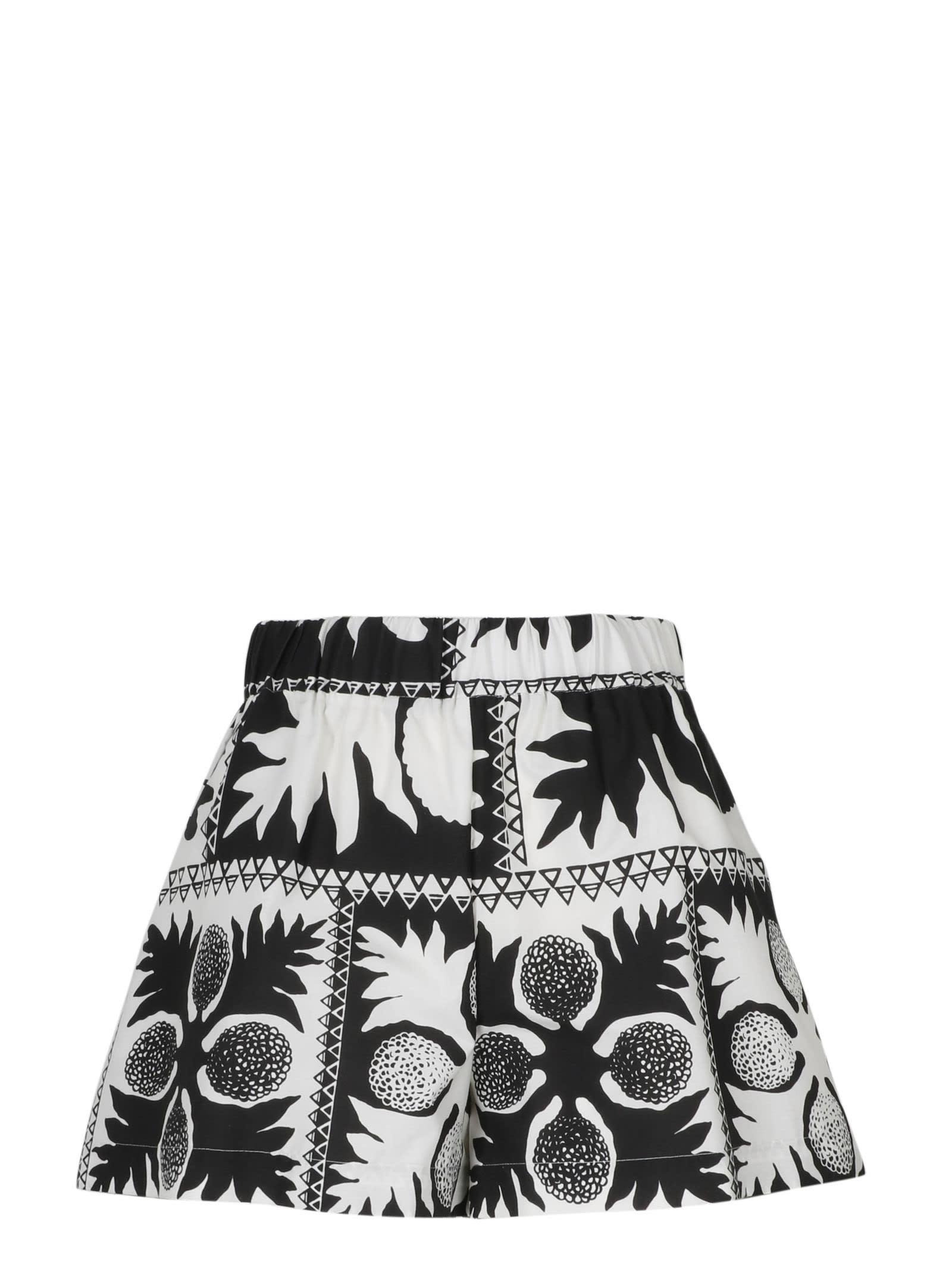RED Valentino Flower Damier Shorts