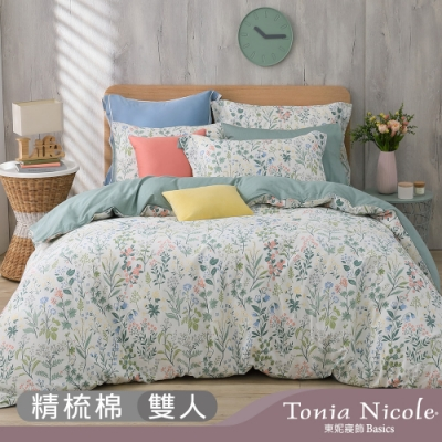Tonia Nicole東妮寢飾 島町漫遊100%精梳棉兩用被床包組(雙人)