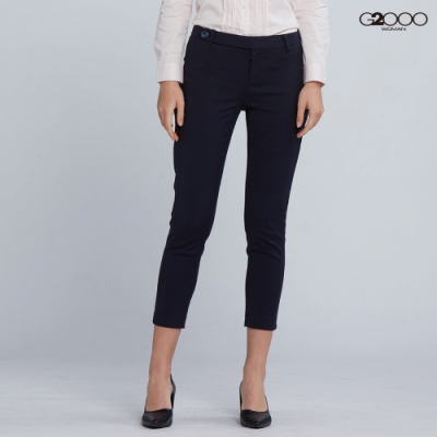 G2000時尚素面休閒一般單褲-深藍色
