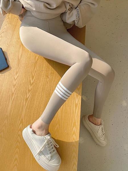 打底褲 鯊魚皮打底褲女外穿春秋薄款灰色緊身瘦身夏季壓力收腹瑜伽芭比褲 夢藝家