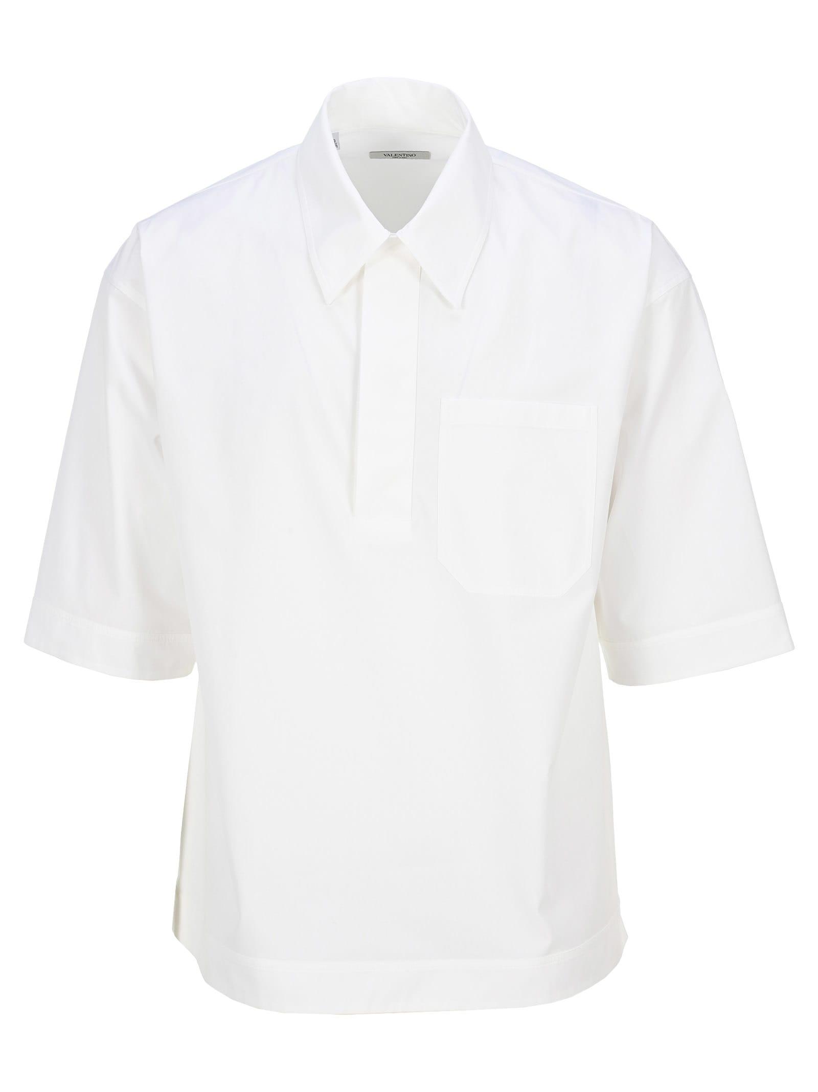 Valentino Poplin Polo Shirt