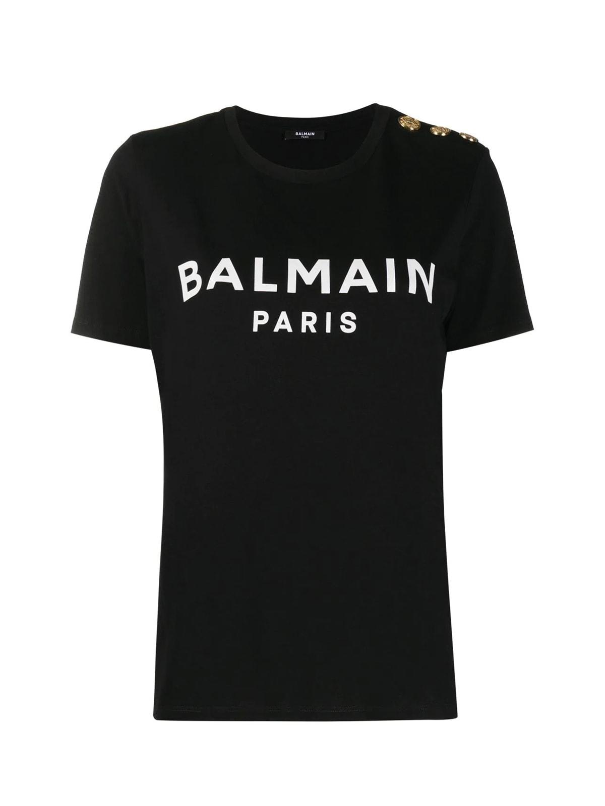 Balmain Ss3 Btn Printed Logo T-shirt