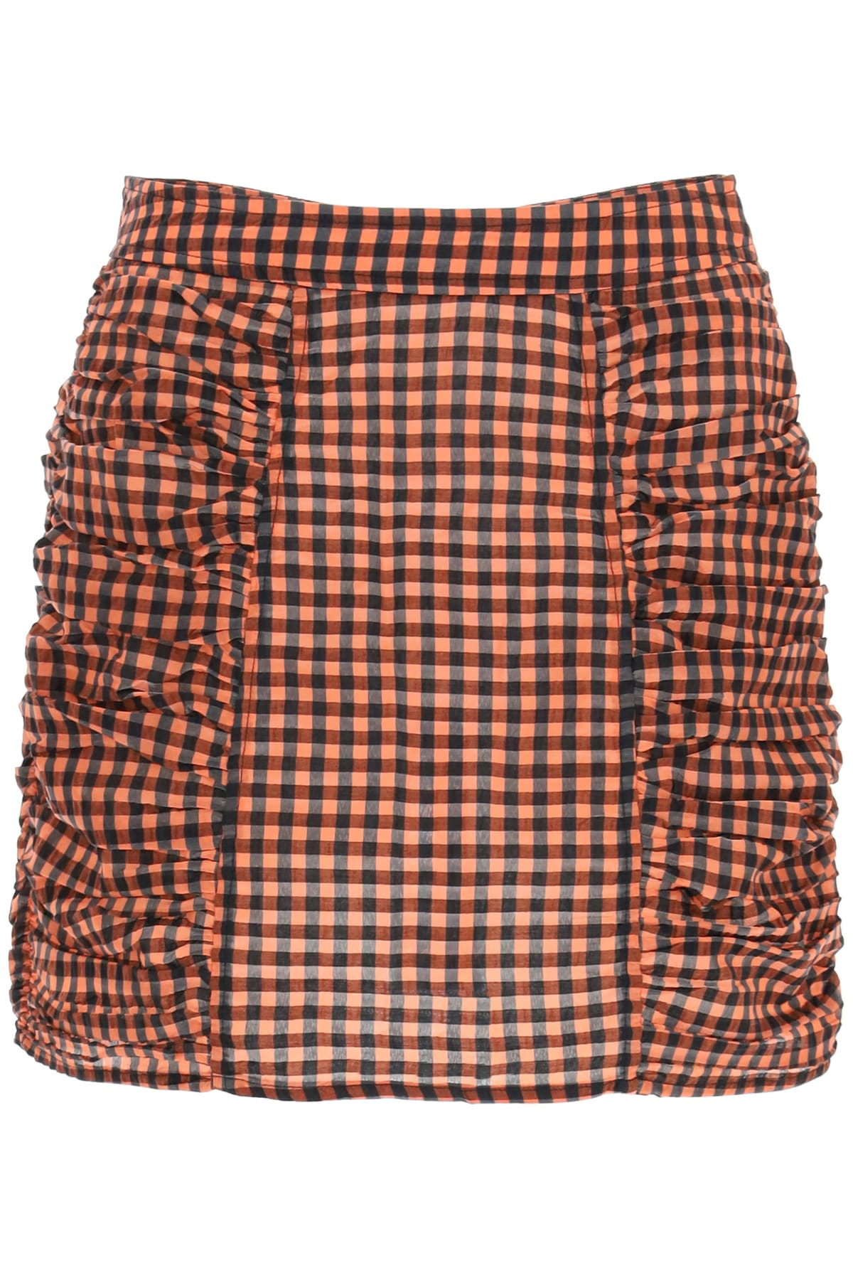 Ganni Seersucker Check Mini Skirt