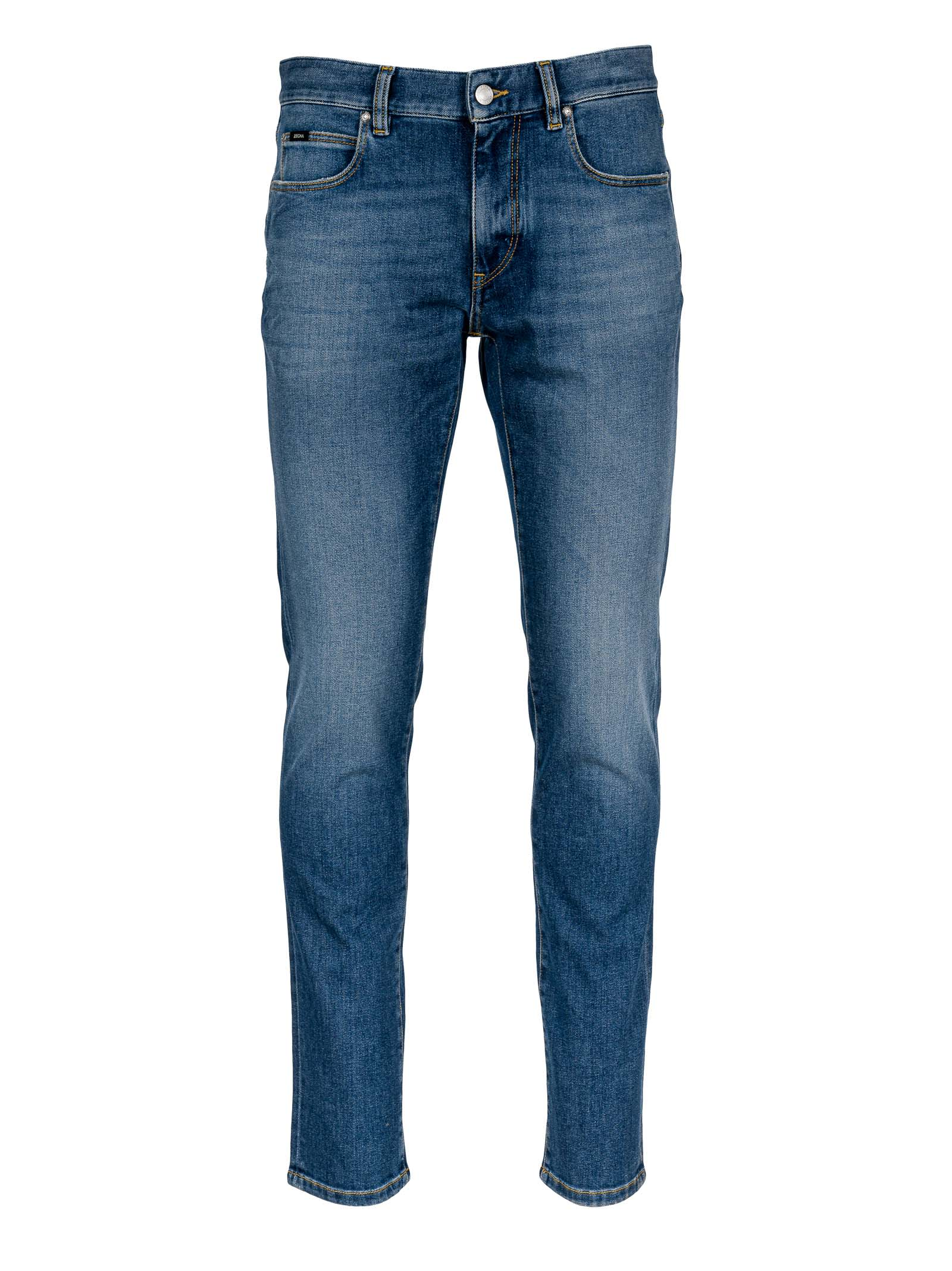 Z-zegna Stretch Cotton 5-pocket Denim
