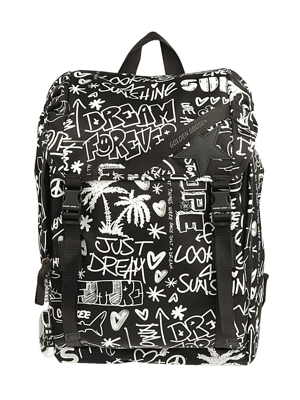 Golden Goose Journey Backpack Printed Nylon Body