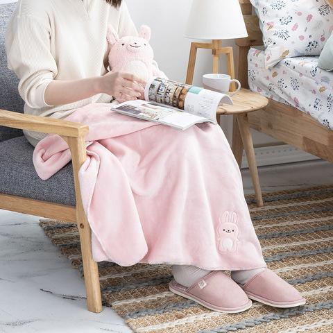 棉朵舒舒寶貝蓋毯組-兔寶