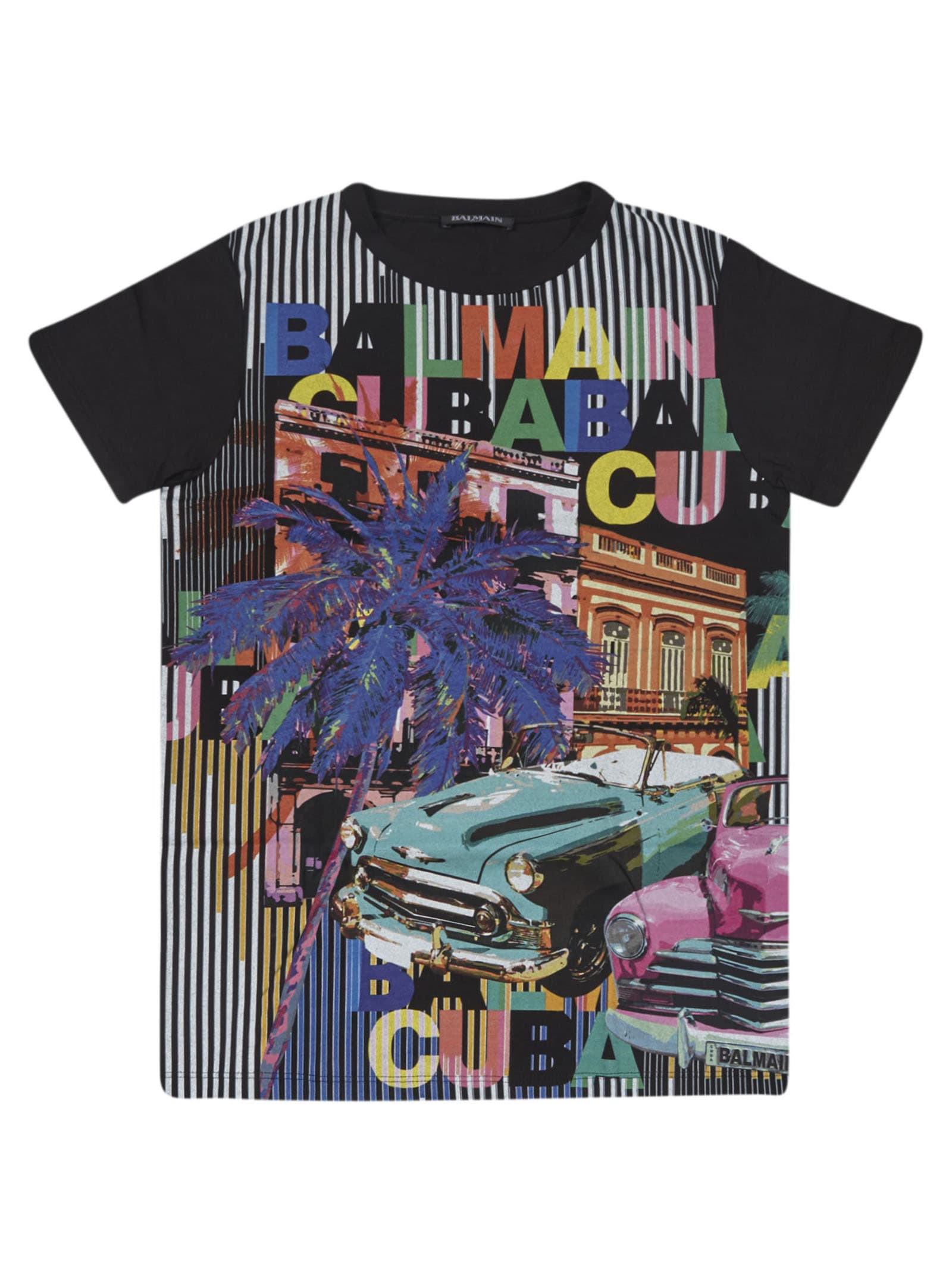 Balmain Printed Short Sleeve T-shirt