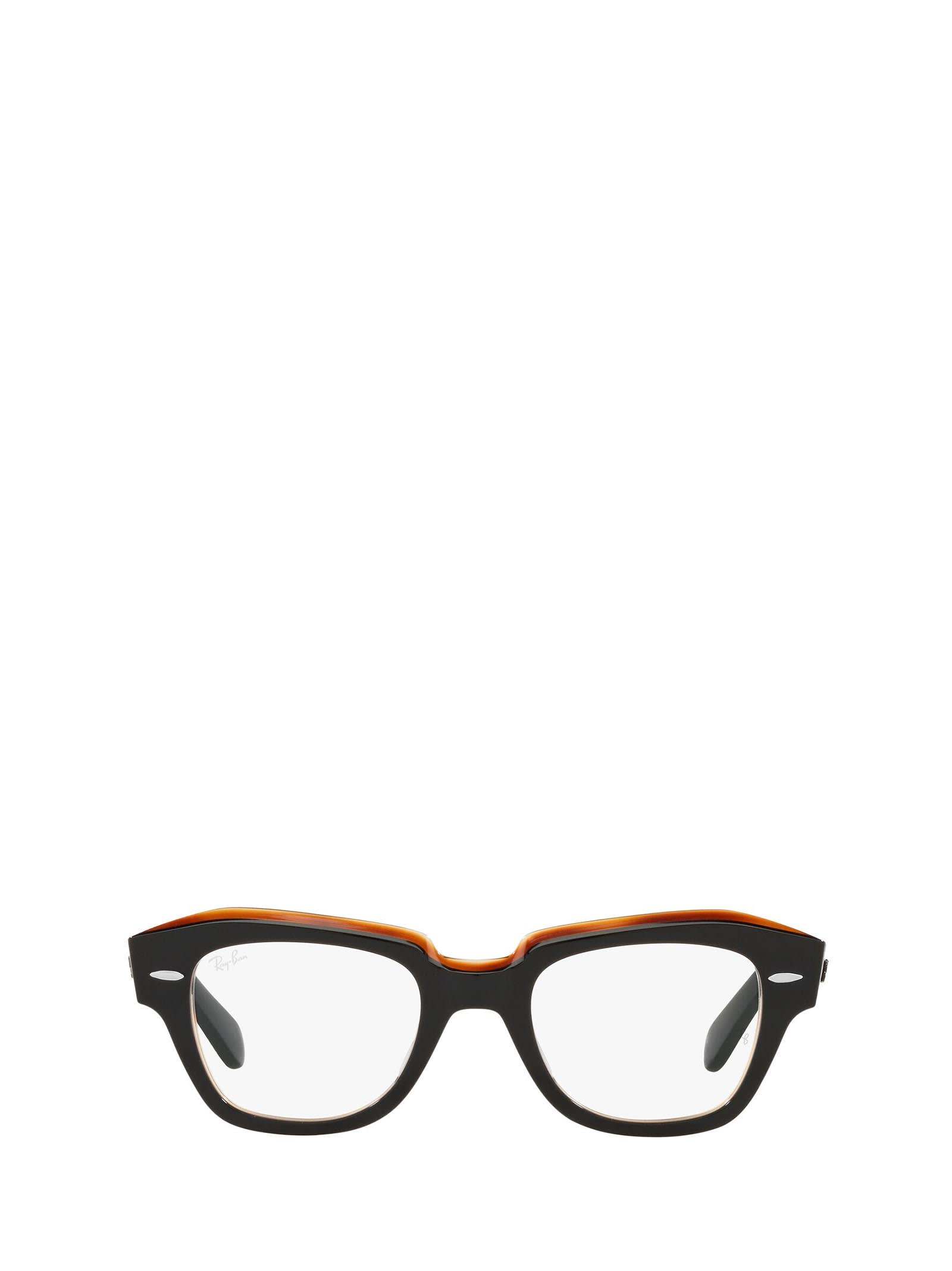 Ray-Ban Ray-ban Rx5486 Black On Transparent Brown Glasses