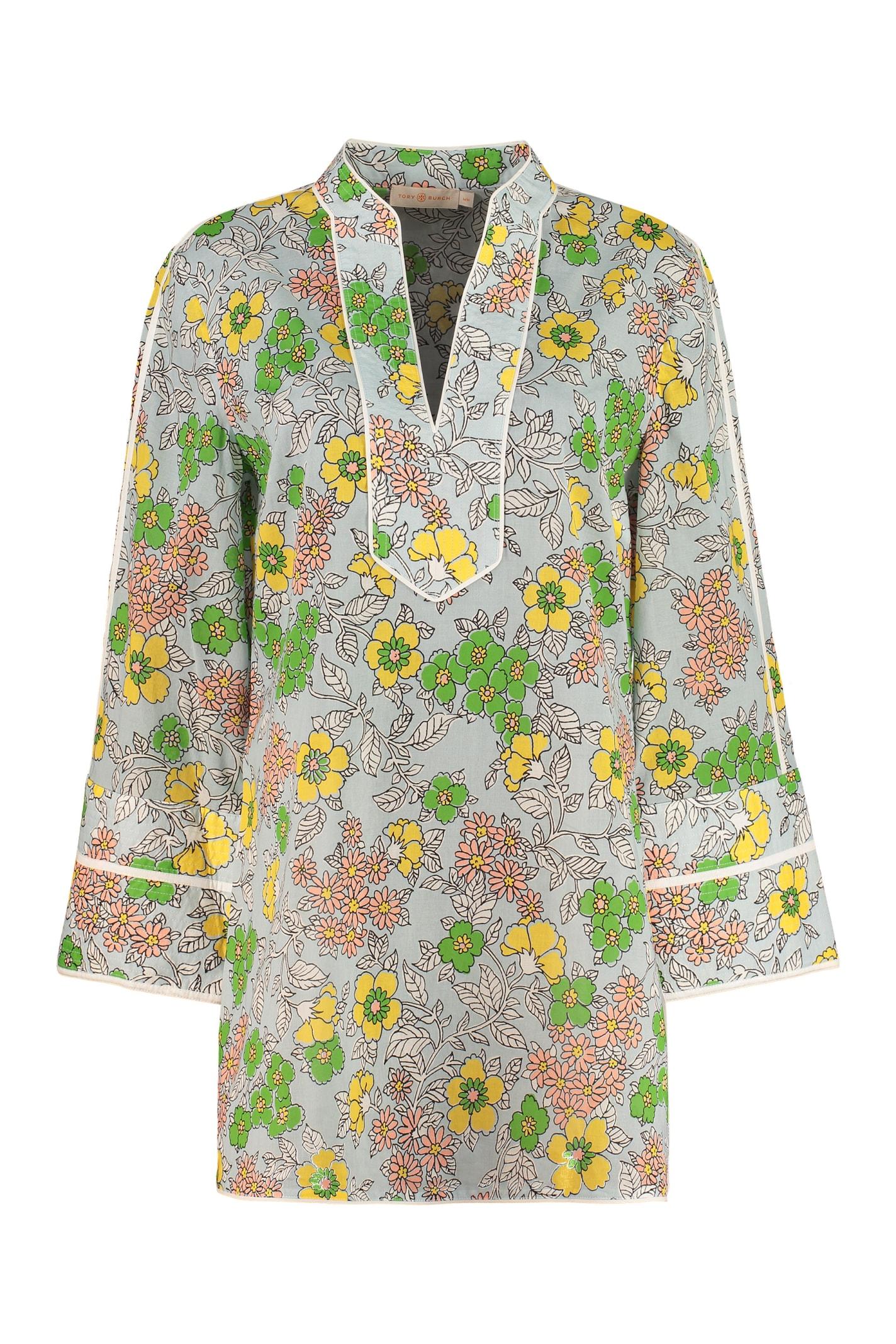 Tory Burch Printed Cotton Tunic-top