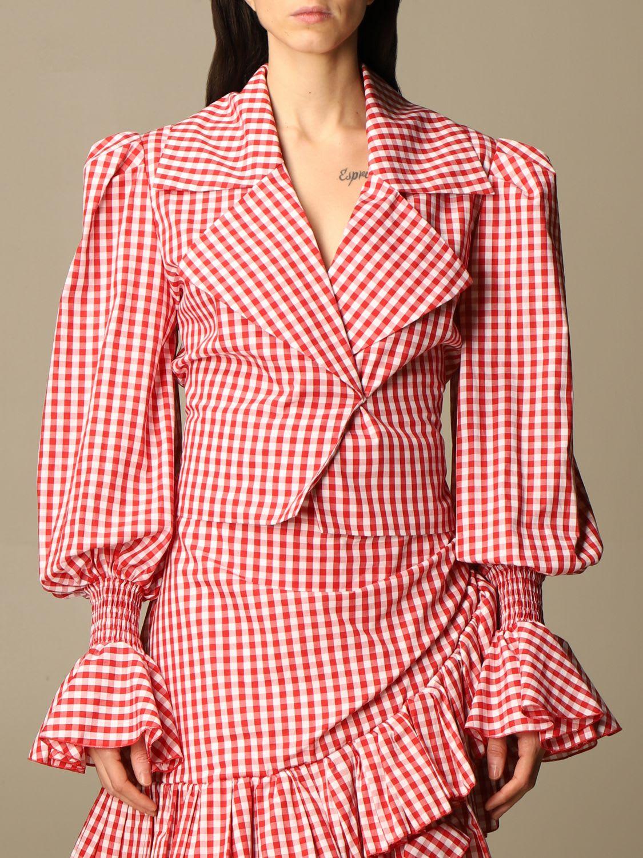 Balmain Top Balmain Shirt In Vichy Cotton