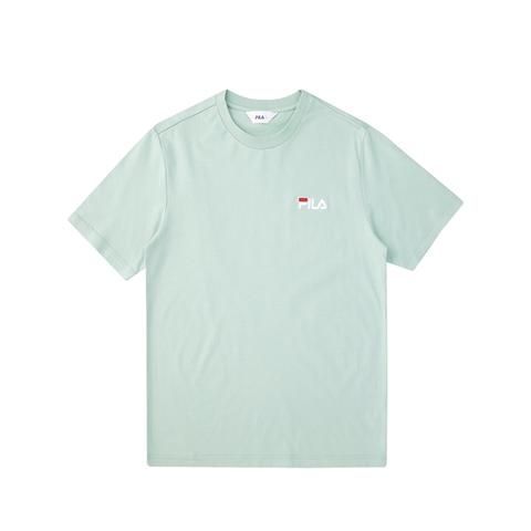 FILA 圓領上衣-粉綠 1TEV-1500-LN