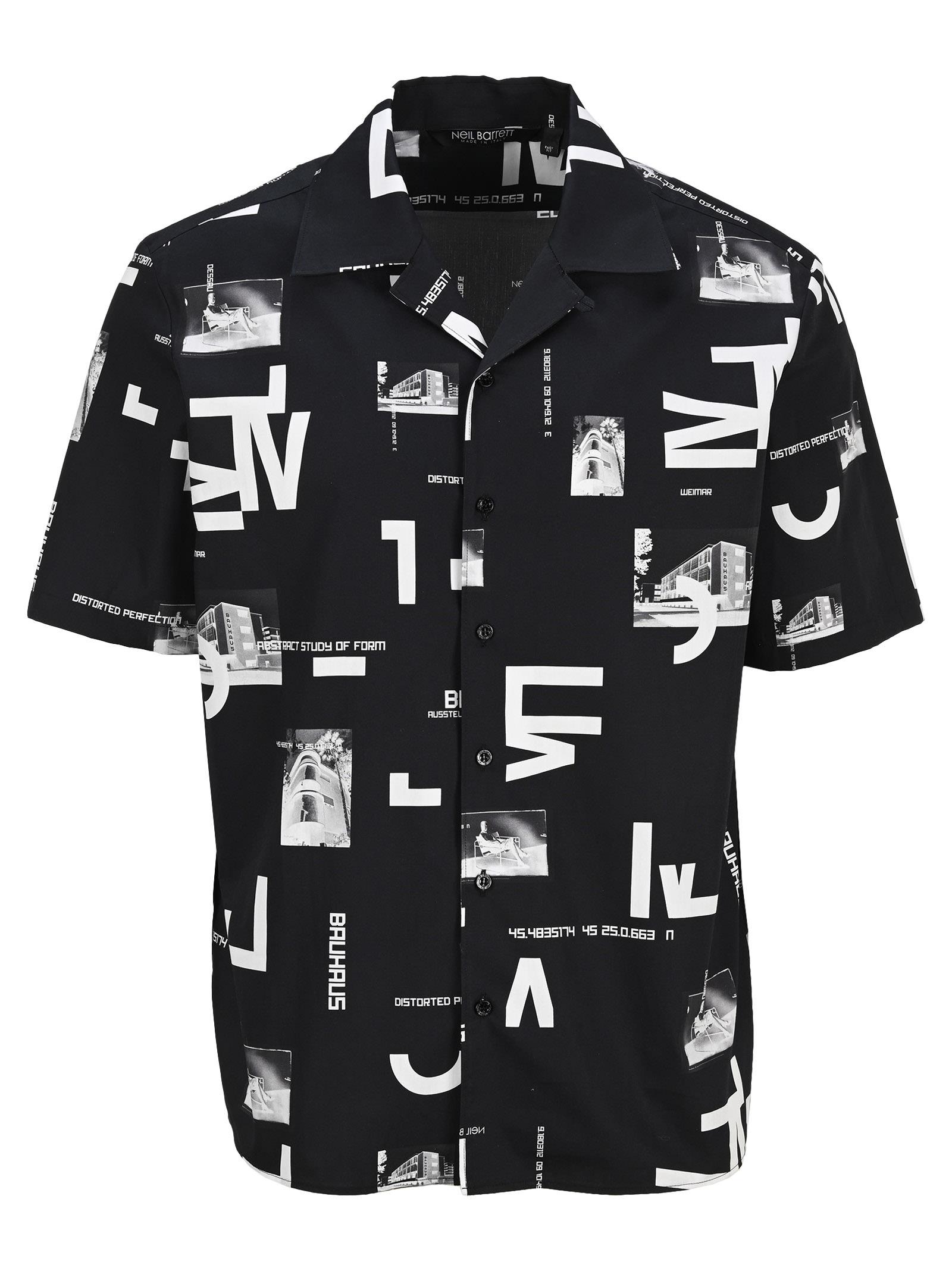 Neil Barrett Bauhaus Bowling Shirt
