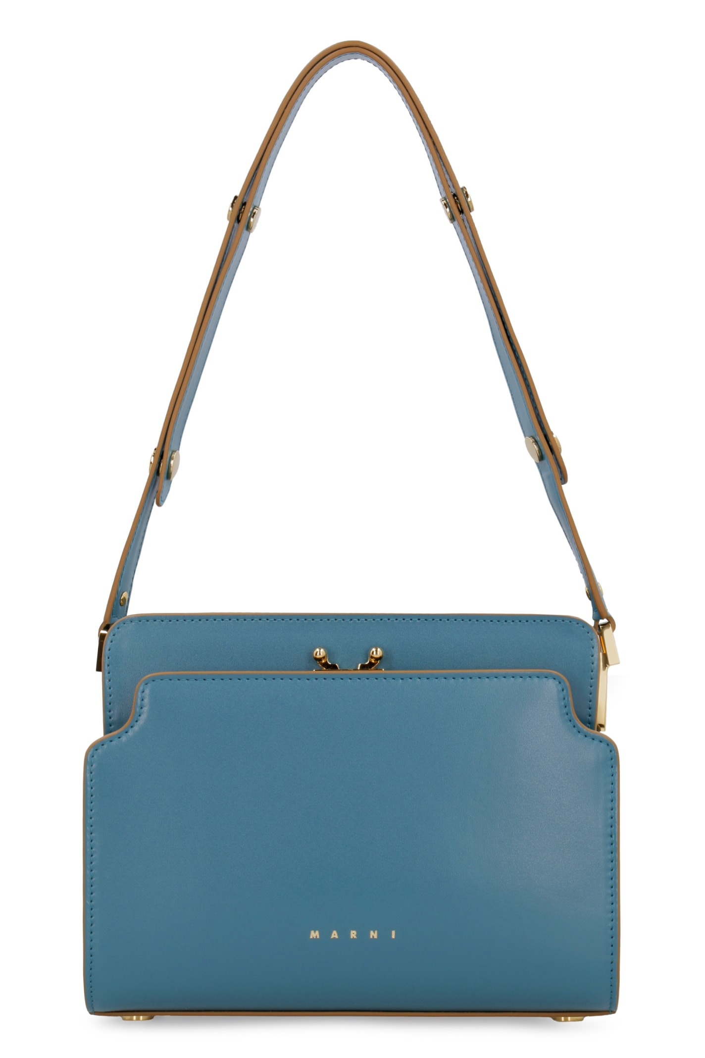 Marni Trunk Reverse Leather Shoulder Bag