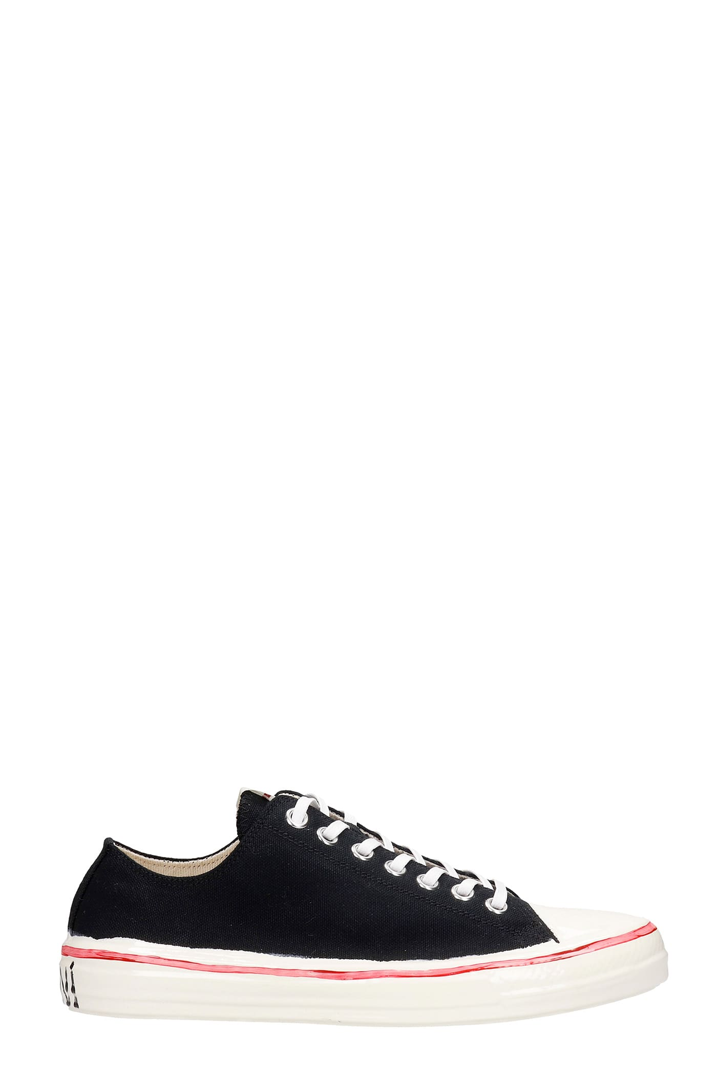 Marni Gooey Sneakers In Black Canvas
