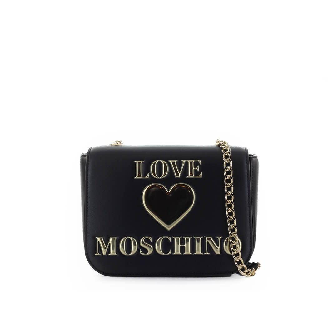 Love Moschino Black Medium Crossbody Bag With Logo