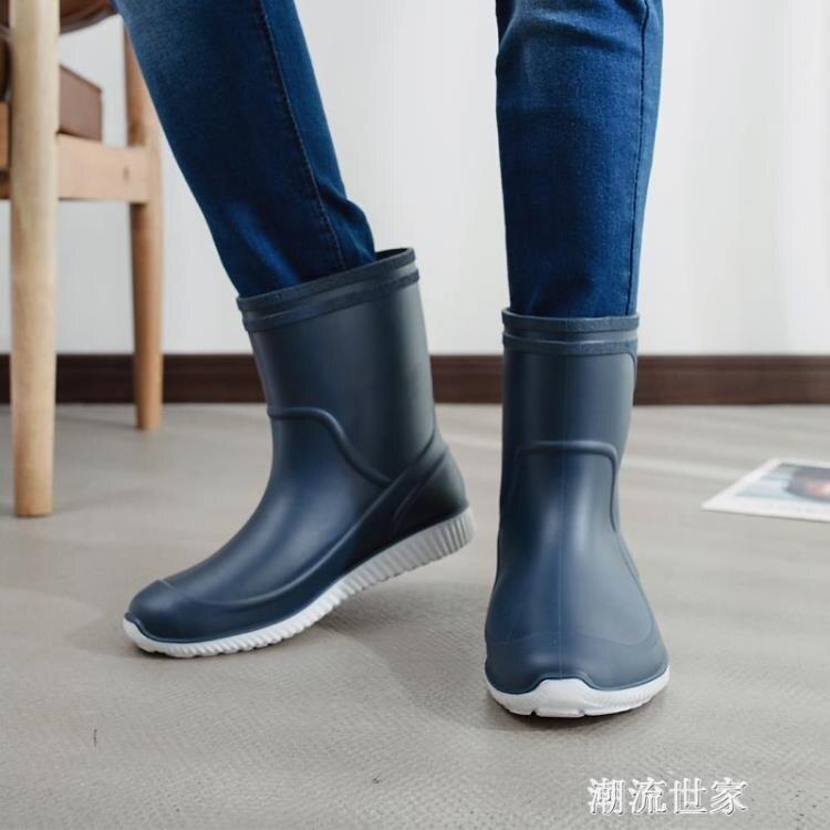 雨鞋男膠鞋中筒防滑防水雨靴水鞋套鞋釣魚鞋洗車工作鞋男膠鞋