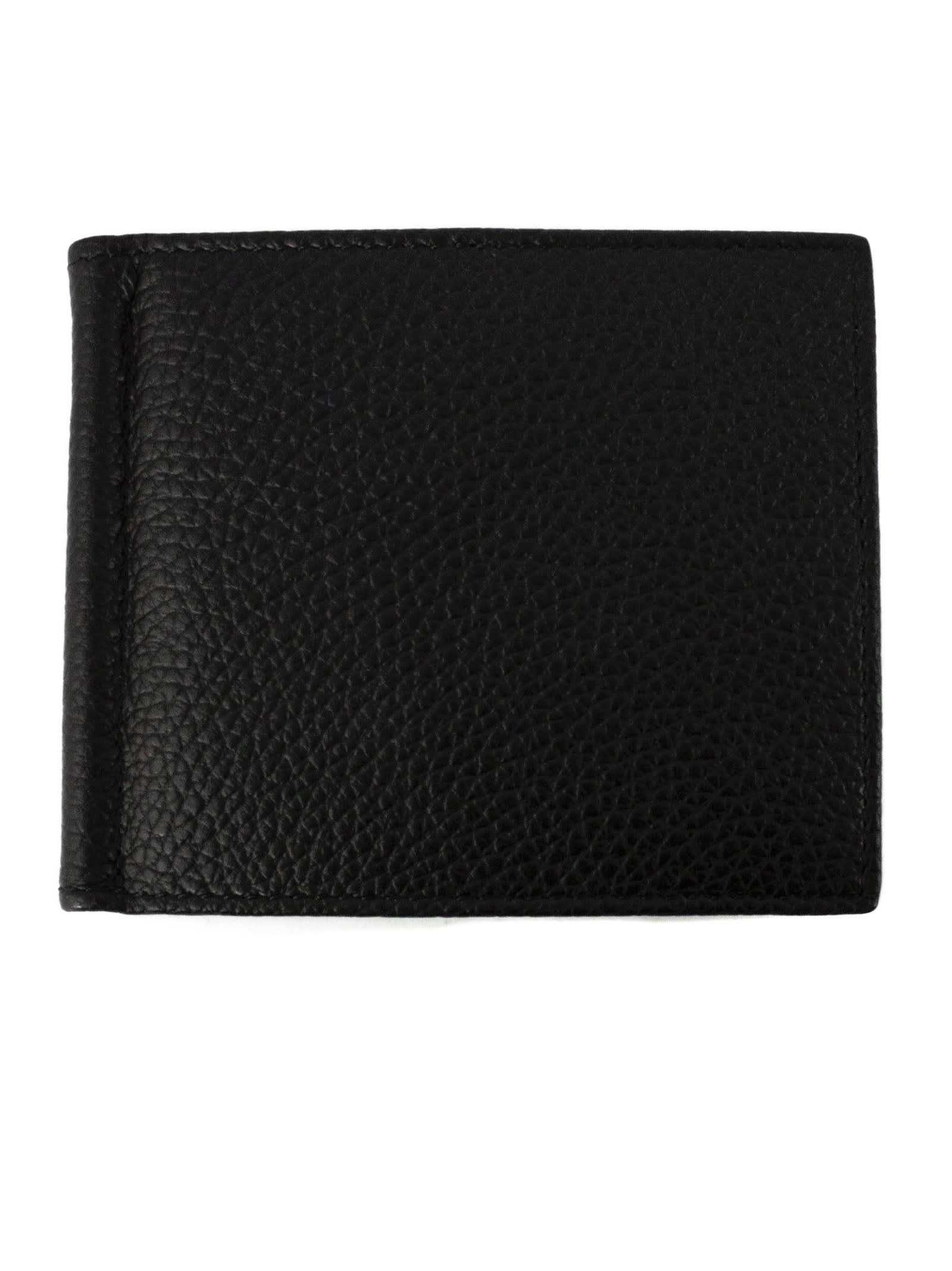 Orciani Black Leather Wallet