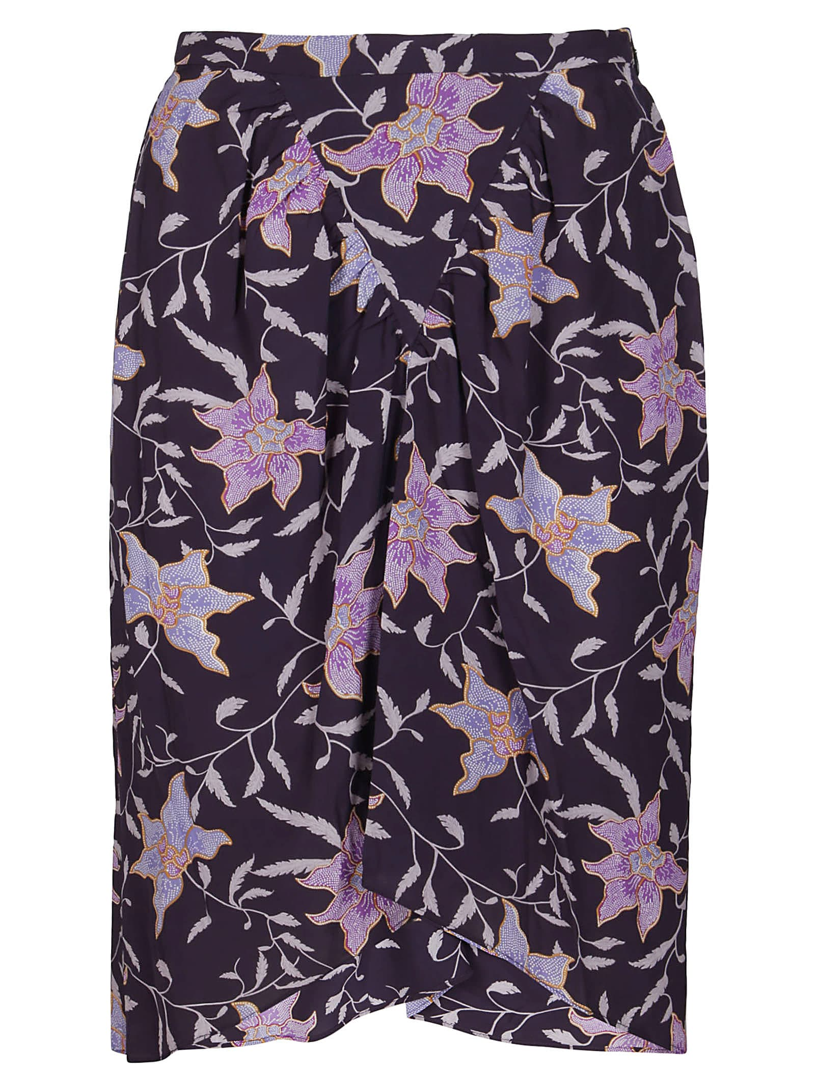 Purple Viscose Skirt