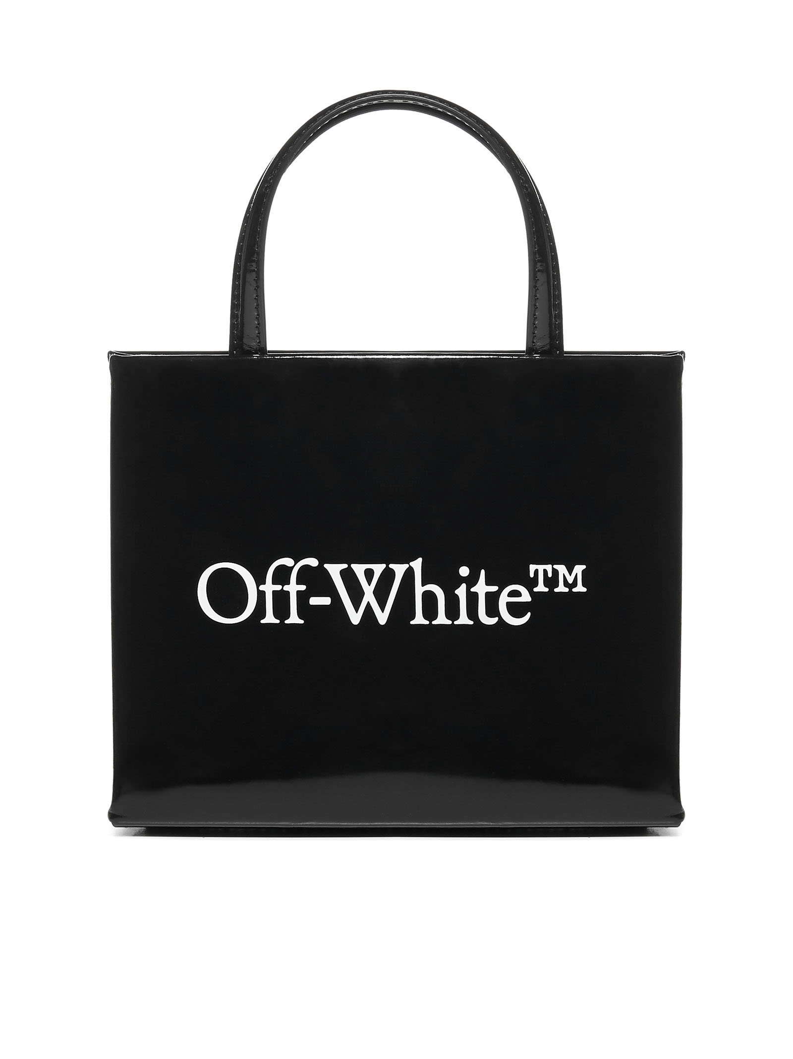 Off-White Mini Box Patent Leather Bag